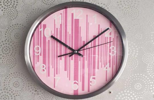 Ρολόι Τοίχου Ροζ 30cm