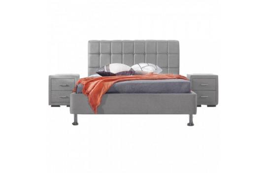 Κρεβάτι Υπέρδιπλο Evelina Γκρι