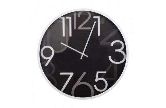 Ρολόι Τοίχου 40.6cm Μάυρο