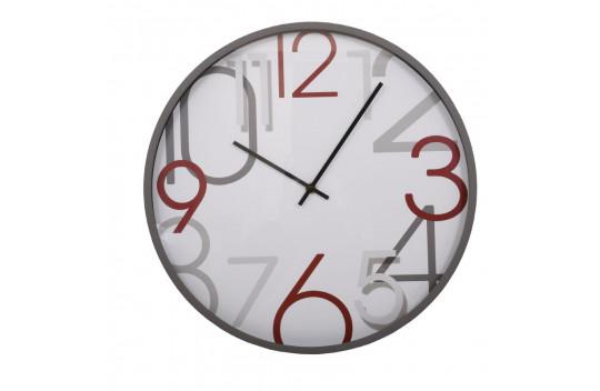 Ρολόι Τοίχου 40.6cm Λευκό Γκρί
